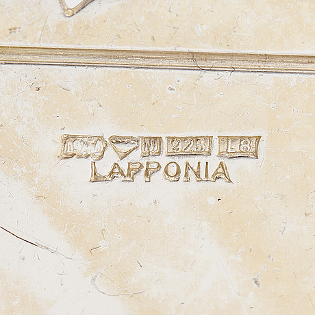 Zoltan popovits, a set of sterling silver necklace, earrings with ebenholtz and a sterling silver bracelet. lapponia.