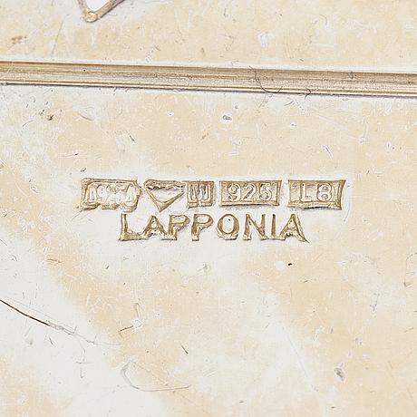 Zoltan popovits, halsband, ÖrhÄngen och armband, sterling silver och ebenholts. lapponia 1987 och 2012.