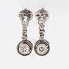 A pair of 18k white gold earrings with diamonds ca. 0.20 ct in total. hallberg, sweden 1952.