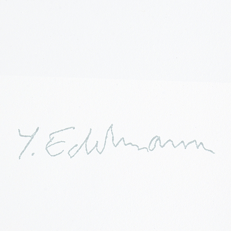 YrjÖ edelmann, lithograph in colours, 1983, stamped signature ea viii/xv.