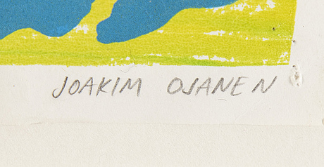 Joakim ojanen, colour lithograph. signed and dated 2011. numbered 16/18.