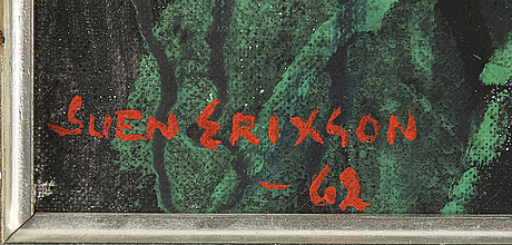 Sven x:et erixson, oil on canvas, signed sven erixson and dated -62.