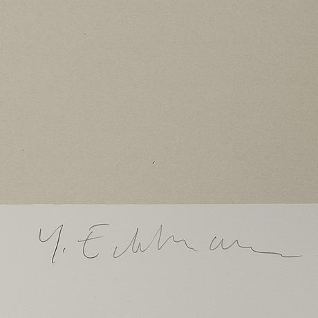 YrjÖ edelmann, lithograph in colours, signed xix/xx.
