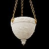 An empire alabaster lamp, early 19th century.