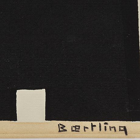 Olle baertling, färgserigrafi, signerad baertling med blyerts. provex.
