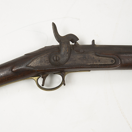 A 18th century swedish-british converted percussion gun.