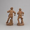 Giuseppe vaccaro caltagirone, two signed terracotta sculptures.