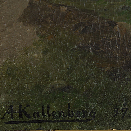 Anders kallenberg, oil on panel, signed and dated -97.