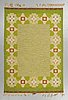 A carpet, flat weave signed is (ingegerd silow), ca  203 x 140 cm.