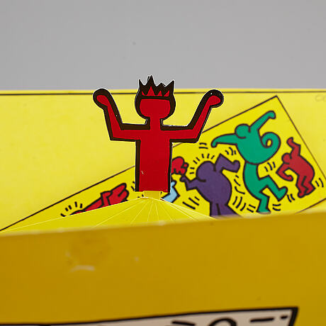Keith haring, multipel, signed in the print, numbered 1363/2000.