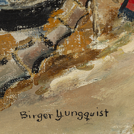 Birger ljungquist, oil on canvas, signed.