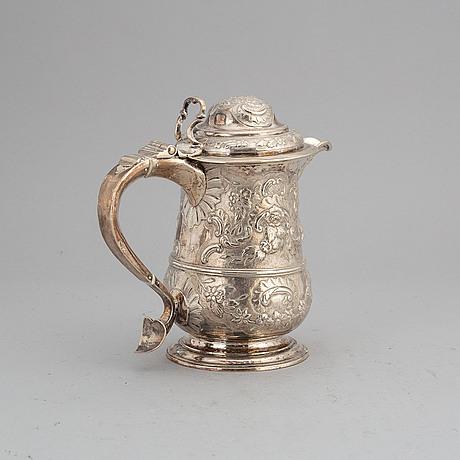 An english parcel gilt silver tankard. london 1773, makers mark i.d.