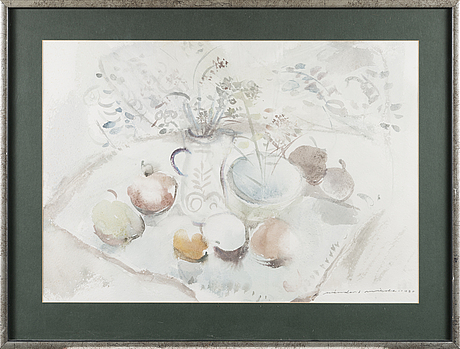 Nandor mikola, water colour, signed and dated 1980.