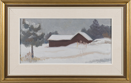 Onni oja, oil on canvas, signed, a ergo marked 1980.