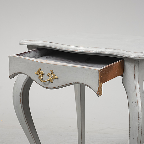 A painted rococo style table from around year 1900.