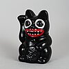"Makode linde, sculputre, ""manike neko"", signed and dated -19."