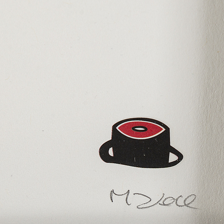 Makode linde, lithograph in colors, signed and numbered 83/120.