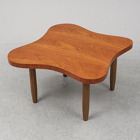 A mahogany veneered swedish modern coffee table, 1940's.