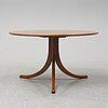 Josef frank, a model 1028 elm root veneered coffee table.