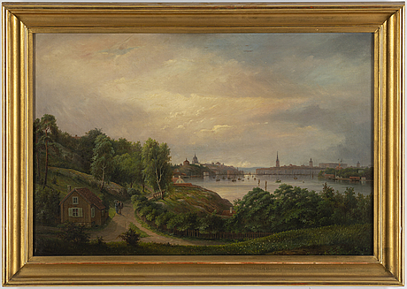 Ehrnfried wahlqvist, oil on canvas, signed and dated 1881.