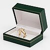 A 14k gold ring with diamonds ca. 0.70 ct in total.