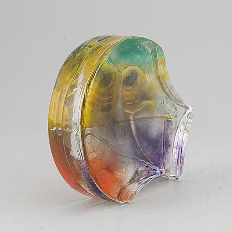 Kjell engman, a glass sculpture,  kosta boda ateljé, signed kjell engman.