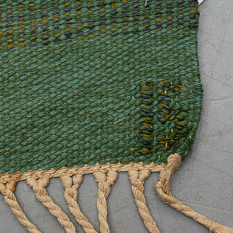 Ingegerd silow, a carpet, flat weave, ca 290-292,5 x 194-198 cm, signerad is.