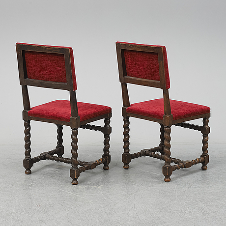 6 baroque style chairs, early 20th century.