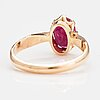 A 14k gold ring with a ruby.