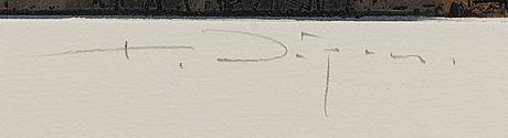 Kjell nupen, carborundumetsning, signerad och numrerad e.a.