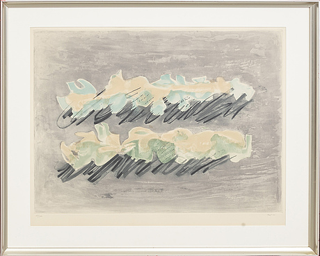 Jean fautrier, a signed and numbered aquatint.