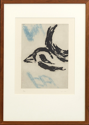 Victor mira, a signed and numbered colour etching.