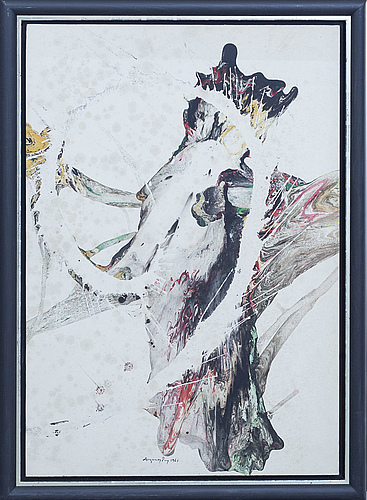 August puig, oil on paper on board, signed and dated.