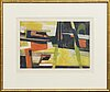 Maurice estÈve, aquatint etching, signed and numbered 11/75, 1958.