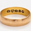An 18k gold ring. frans viktor syrenius, turku 1899.