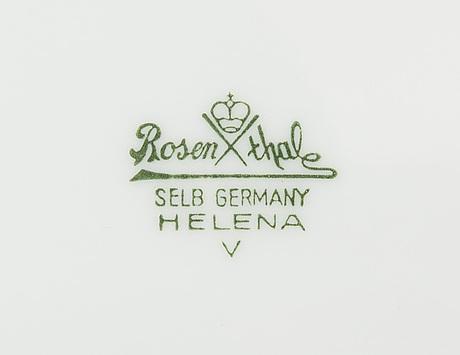 Servis ca 66 dlr rosenthal tyskland 1900-talets mitt porslin.