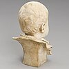 Robert stigell, a plaster bust, signed and dated 1901.