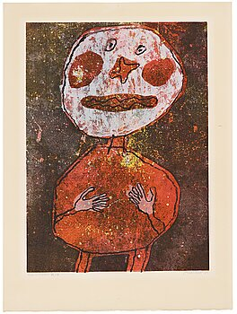 """261A. Jean Dubuffet, """"Personnage au costume rouge""""."""