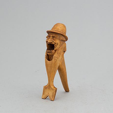 A carved erik molin nut cracker.