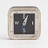 Cartier, a brass compass with a palladium finish. s.i.h.h, 2004.