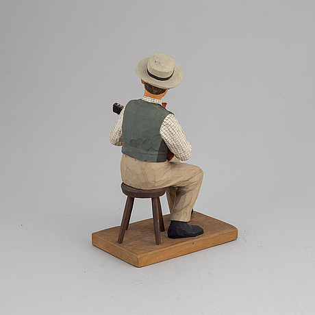 Herman rosell, sculpture, painted wood.