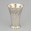 A silver beaker probably by mikael hammarberg, härnösand 1771.