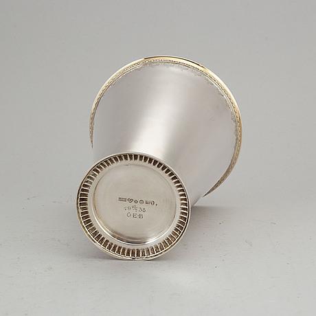 A silver beaker by gab, stockholm 1937.