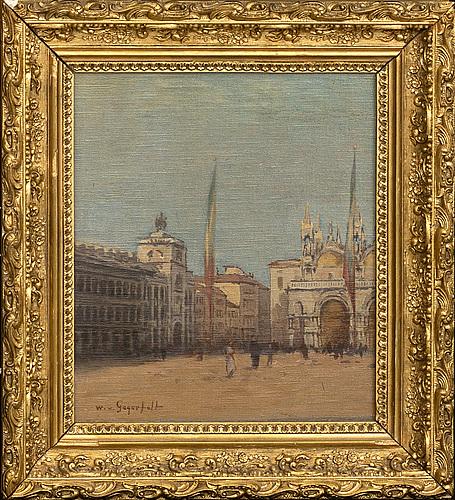 Wilhelm von gegerfelt, canvas laid on panel signed.