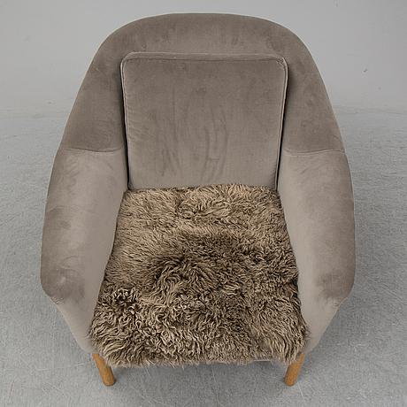 Kerstin hÖrlin-holmquist, a 'napoleon' easy chair, nyköping, nordiska kompaniet, mid 20th century.
