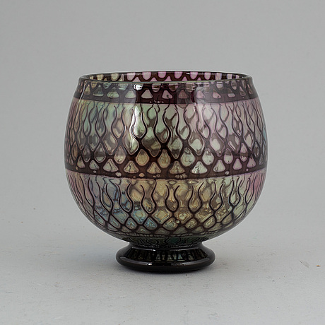 Eva englund, an orrefors gallery glass bowl, 1988.