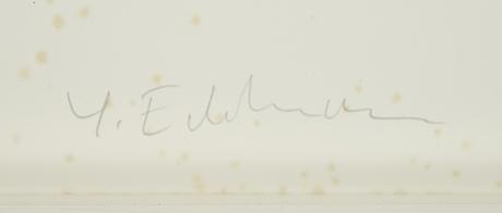 YrjÖ edelmann, lithograph in colours, signed ea xv/xxxvi.