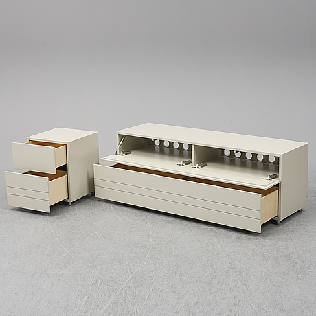 Claesson koivisto rune, a 'rand' media bench and chest of drawers, asplund.