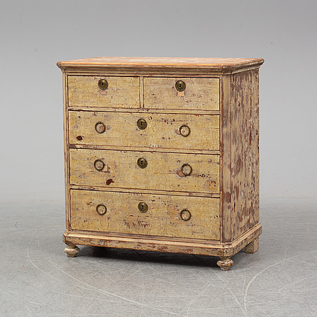 A second half of the 19th century chest of drawers.