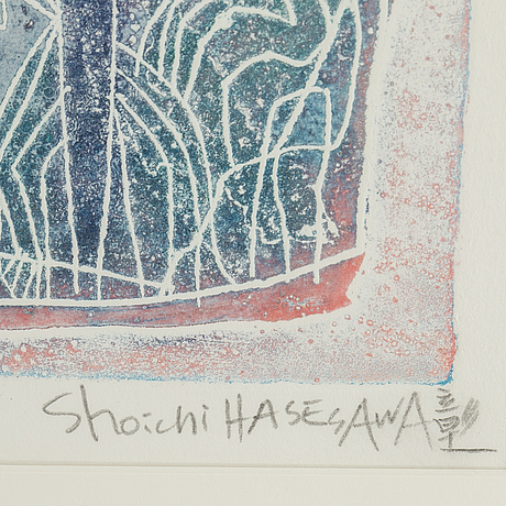 Shoichi hasegawa, färgakvatint, 2 st, signerade shoichi hasegawa och numrerade 65/110 & 31/110 med blyerts.